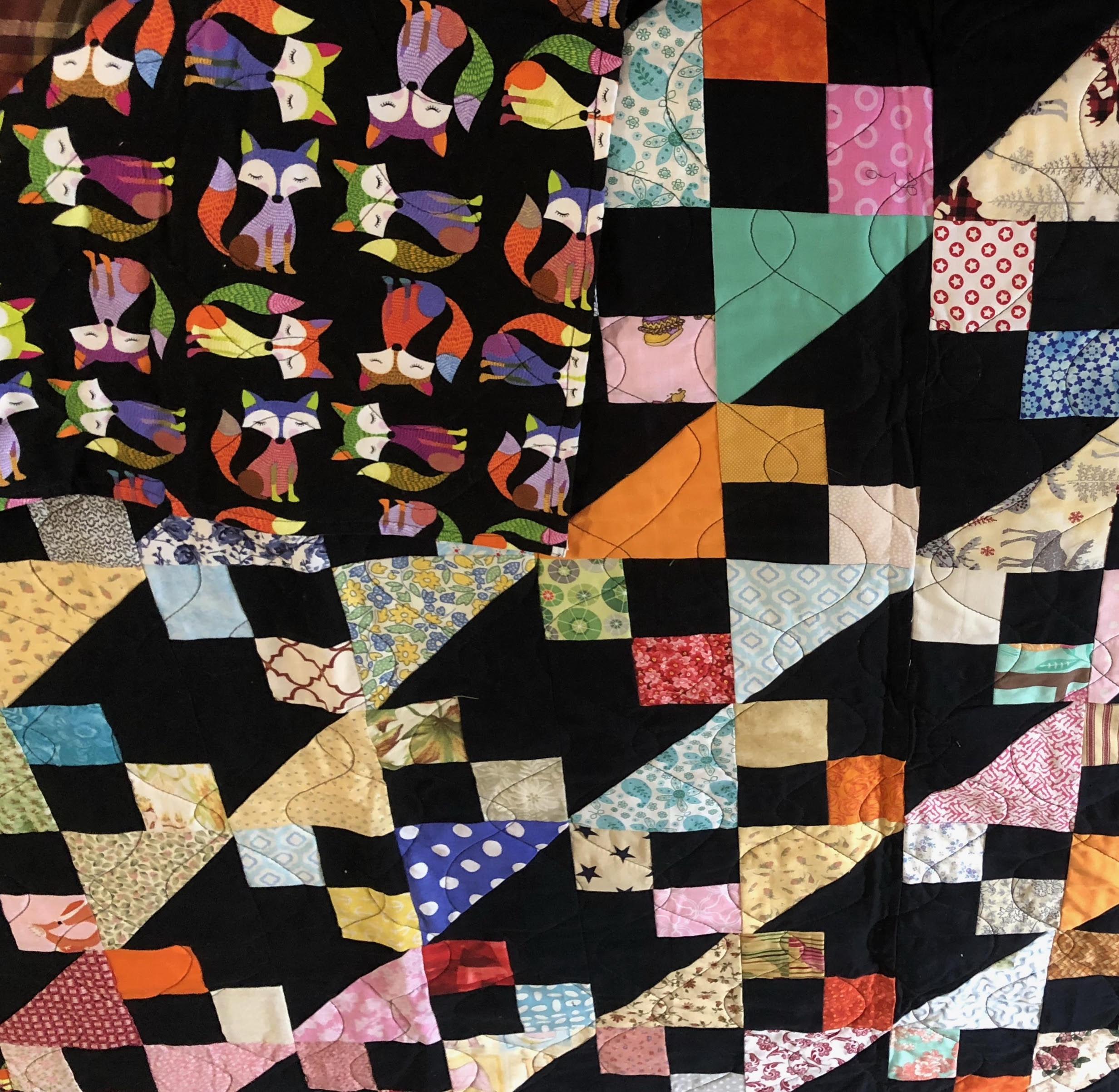 Fox Print Quilt for raffle